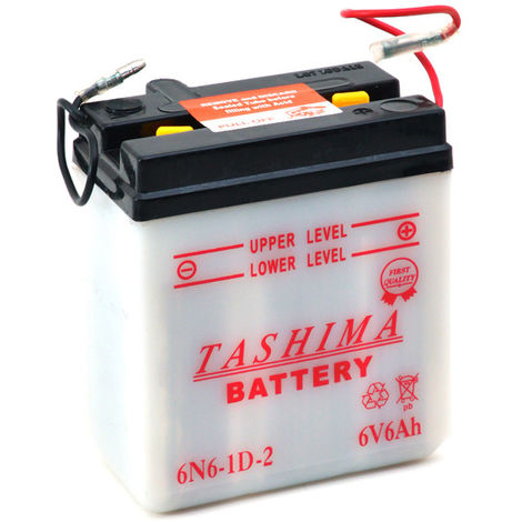 Tashima - Batería moto 6N6-1D-2 6V 6Ah
