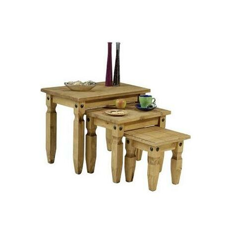 Tason Pine Nest Of Tables - Solid Wood