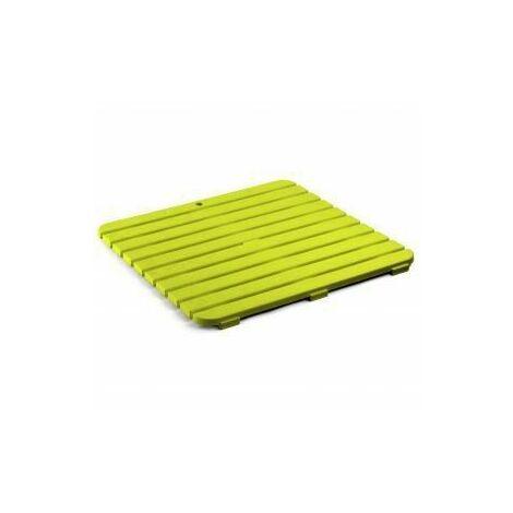 TATAY 5530002-Caillebotis de Douche 55x 55, vert pistache, 55x 3x 55cm