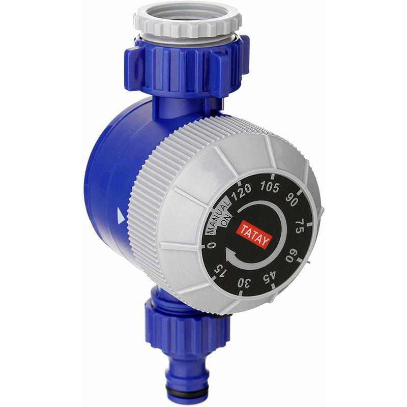 TATAY 45001 - Temporizzatore per irrigatori, 7,5 x 8.5 x 14,5 cm, Colore Blu