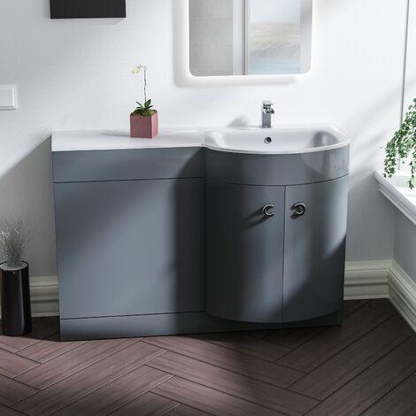 Tate 1100mm RH Grey Bathroom Basin Combination Vanity Unit
