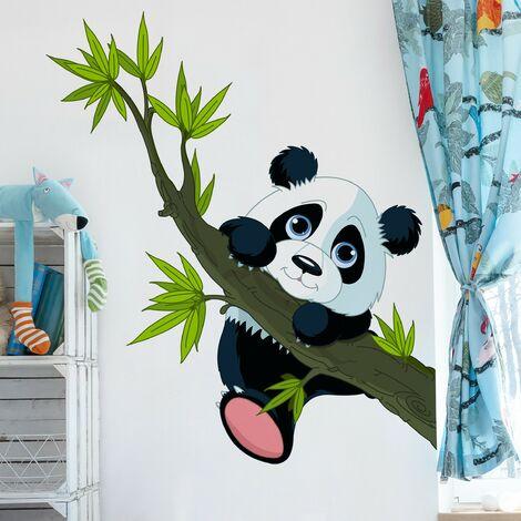 Tatuaje de pared - Climbing Panda Dimensión LxA: 46cm x 40cm