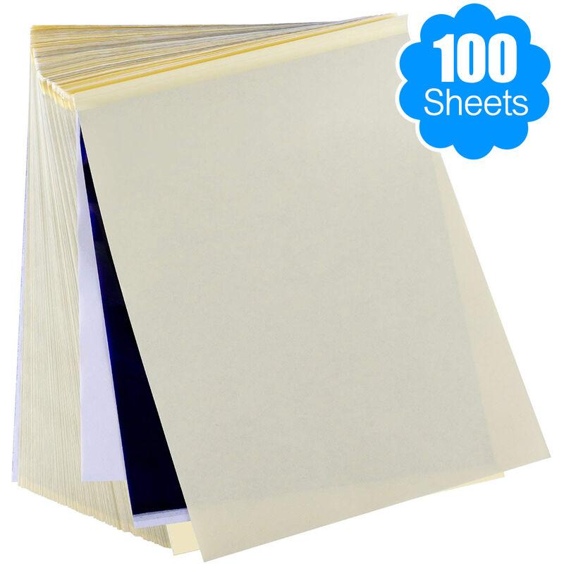 Tatuaje de transferencia de papel de 100 hojas de la plantilla del tatuaje papel termico papel de la plantilla para la piel Tamano A4