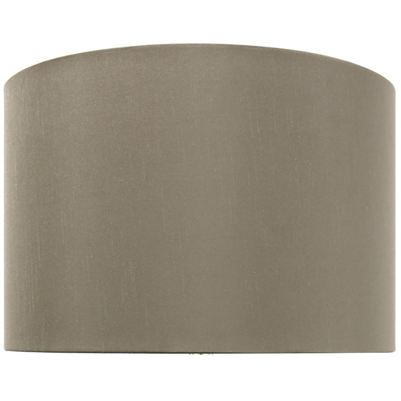 Image of Cimc - Taupe 16 inch Faux Silk Cylinder Shade - BLCC7159