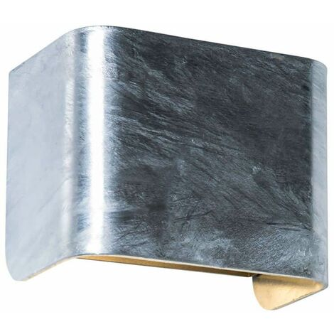 TAURUS wall light in galvanized and galvanized steel