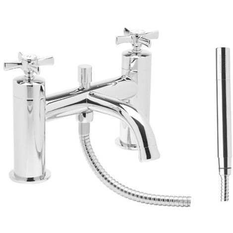 Tavistock Cheltenham Bath Shower Mixer Tap Deck Mounted - Chrome