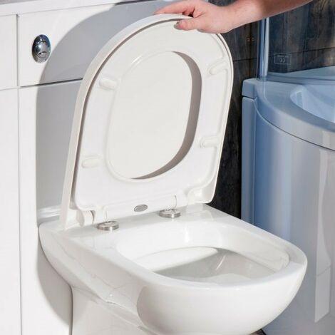 Tavistock Compact D Shaped Soft Close Toilet Seat - RAK Vitra Laufen V&B Roca