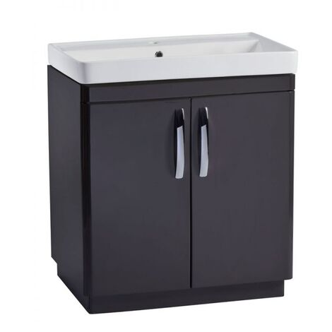 Tavistock Compass Floor Standing Bathroom Vanity Unit with Basin 800mm Wide - Gloss Clay