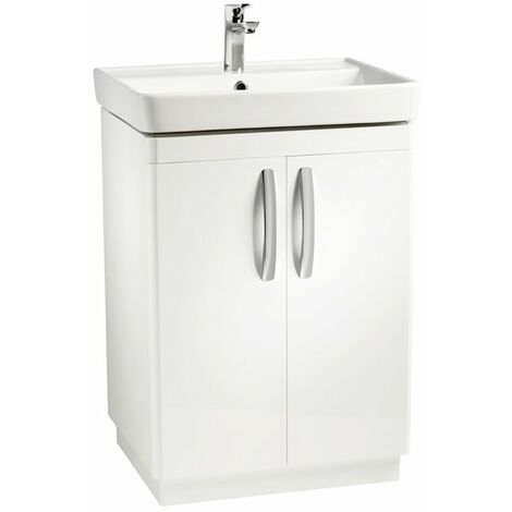 Tavistock Compass Floor Standing Vanity Unit with Basin 600mm Wide - 1 Tap Hole