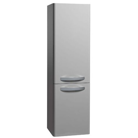 Tavistock Compass Tall Bathroom Storage Unit 350mm Wide - Gloss Light Grey
