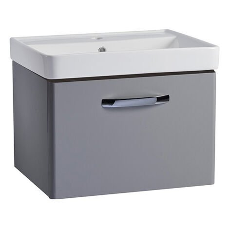 Tavistock Compass Wall Hung 1-Drawer Vanity Unit 600mm Wide - Light Grey