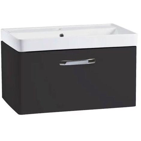 Tavistock Compass Wall Mounted Bathroom Vanity Unit with Basin 800mm Wide - Gloss Clay