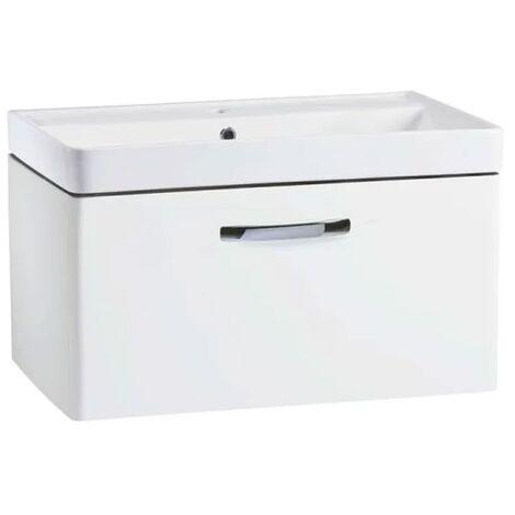 Tavistock Compass Wall Mounted Bathroom Vanity Unit with Basin 800mm Wide - White