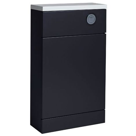 Tavistock Kobe Back to Wall WC Unit with Worktop 500mm Wide - Storm Grey