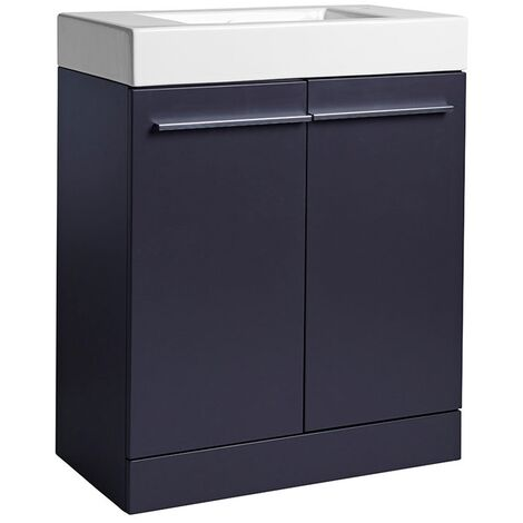 Tavistock Kobe Freestanding Bathroom Vanity Unit with Basin 700mm Wide - Storm Grey