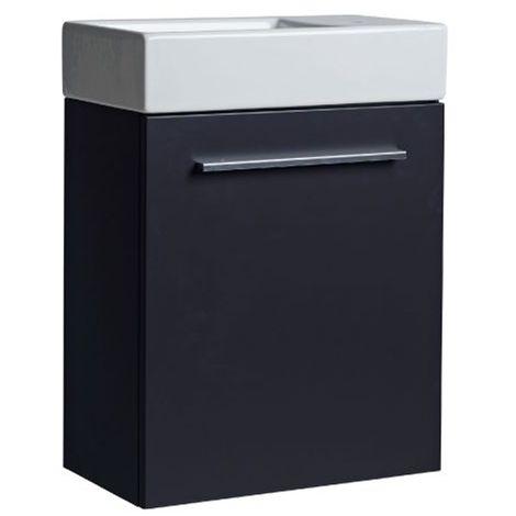 Tavistock Kobe Wall Mounted Bathroom Vanity Unit with Basin 450mm Wide - Storm Grey