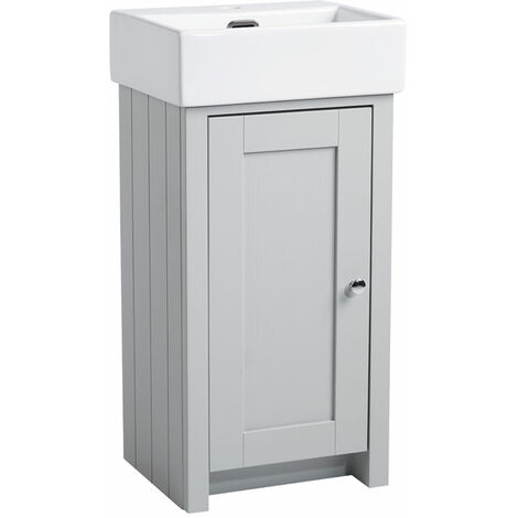 Tavistock Lansdown Bathroom Vanity Unit & Basin 400mm W Pebble Grey 1 Tap Hole