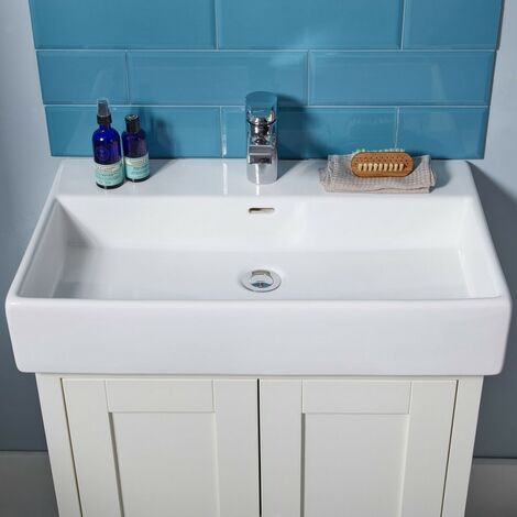 Tavistock Lansdown Ceramic Basin 700mm Wide - White