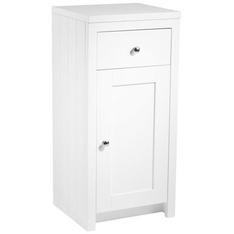 Tavistock Lansdown Freestanding Bathroom Storage Unit 400mm Wide Linen White