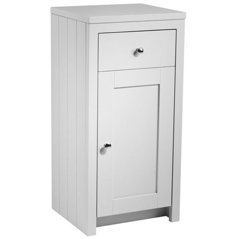 Tavistock Lansdown Freestanding Bathroom Storage Unit 400mm Wide Pebble Grey
