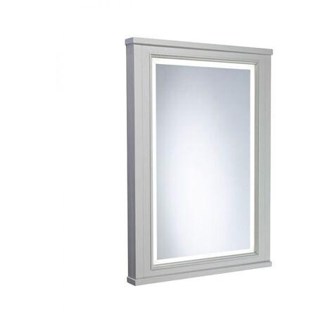 Tavistock Lansdown Illuminated LED Bathroom Mirror 600mm Wide - Pebble Grey