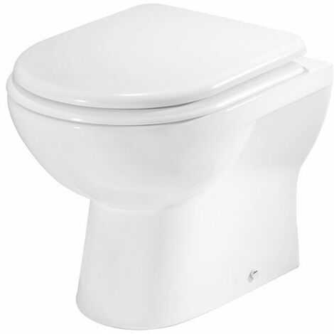 Tavistock Micra Back to Wall Toilet WC 510mm Projection - Soft Close Seat