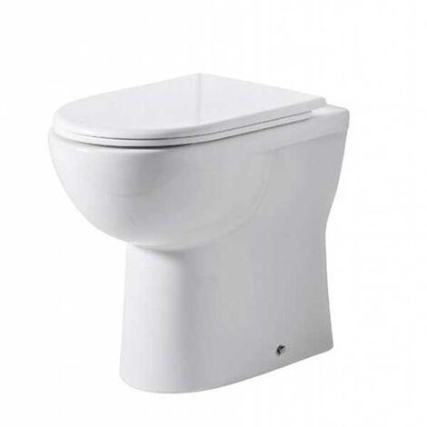 Tavistock Micra Comfort Height Back to Wall Toilet - Soft Close Seat