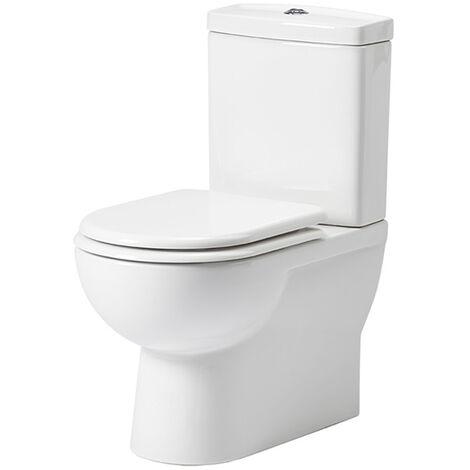 Tavistock Micra Flush-to-Wall Close Coupled Toilet, Soft Close Toilet Seat