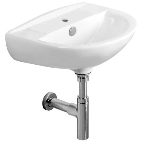 Tavistock Micra Wall Hung Cloakroom Basin 450mm Wide - 1 Tap Hole