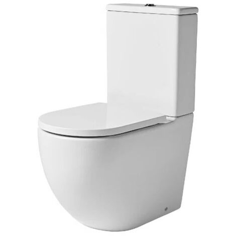 Tavistock Orbit Rimless Close Coupled Toilet with Dual Flush Cistern - Soft Close Seat