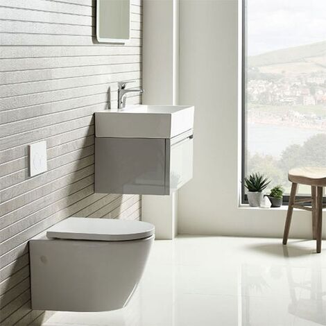 Tavistock Orbit Wall Hung Toilet WC 510mm Projection - Soft Close Seat
