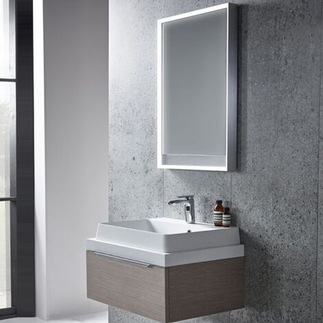 Tavistock Pitch Bathroom Mirror 700mm H x 500mm W LED Illuminated