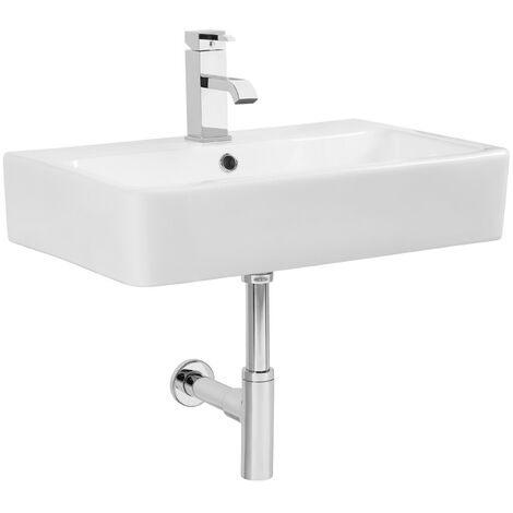 Tavistock Q60 Wall Hung Cloakroom Basin, 570mm Wide, 1 Tap Hole