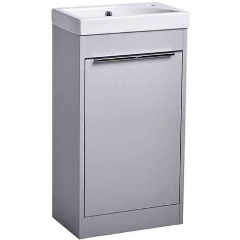 Tavistock Sequence Freestanding Vanity Unit, 450mm Wide, Light Grey