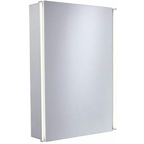 Tavistock Sleek Single Door Mirror Cabinet with Integrated LED Lighting 490mm W