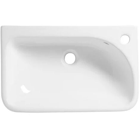 Tavistock Structure Slim Depth Semi Countertop Basin 550mm Wide - 1 Tap Hole