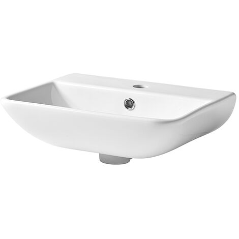 Tavistock Structure Wall Hung Basin 450mm Wide - 1 Tap Hole
