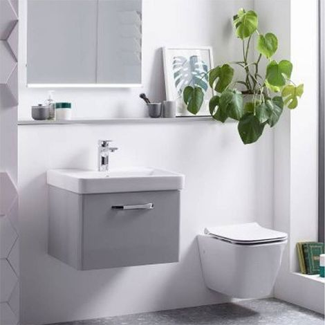 Tavistock Structure Wall Hung Toilet WC 505mm Projection - Slim Soft Close Seat
