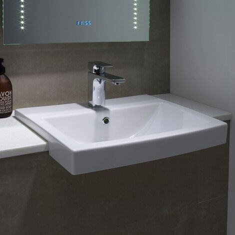 Tavistock Vibe Semi Countertop Basin 550mm Wide 1 Tap Hole