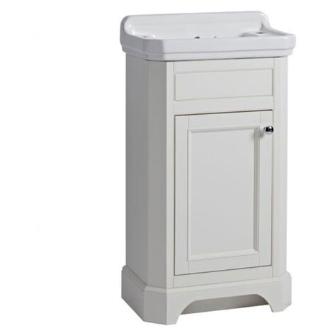 Tavistock Vitoria Floor Standing Vanity Unit with Basin 500mm W - Linen White