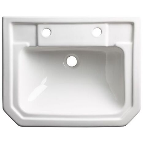Tavistock Vitoria Semi Countertop Basin 550mm Wide - 2 Tap Hole