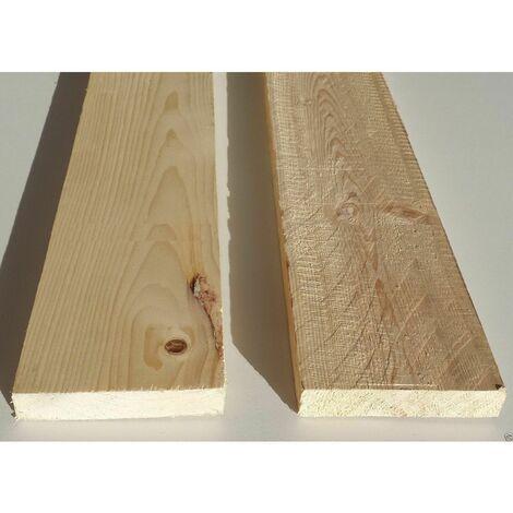 Tavola grezza carpenteria in legno abete semipiallato cm 2,1 x 5 x 200 - metri 2