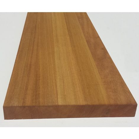 "main image of ""Tavola in legno lamellare iroko 40 x 330 x 1450 mm gradino mensola ripiano"""