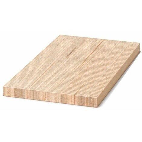 Tavola in legno microlamellare faggio 20 x 330 x 2200 mm baubuche mensolone