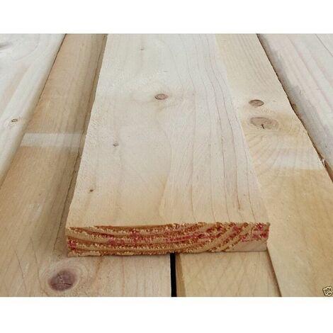 Tavola listone carpenteria in legno abete piallato cm 2 x 10 x 300