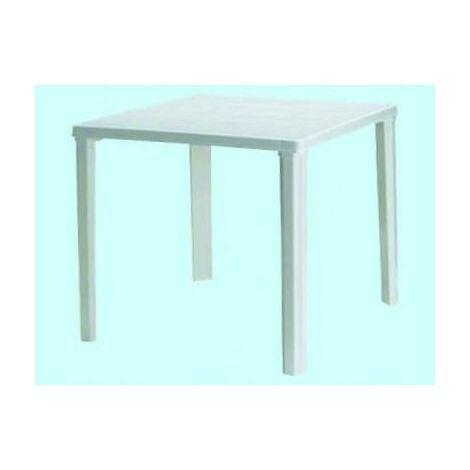 Tavolo Bianco 80x80 Allungabile.Tavoli Tavolo In Resina Rodi Quadrato Bianco Cm 80x80 Arredo