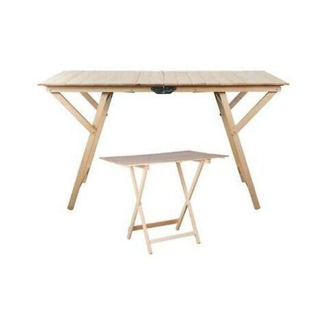 Tavoli Tavolo Pieghevole In Legno Cm. 60X80H75 Arredamento Per Esterno
