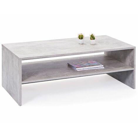Tavolinetto da Caffe Grigio da Salotto Tavolo Basso Moderno in Legno per  Divano