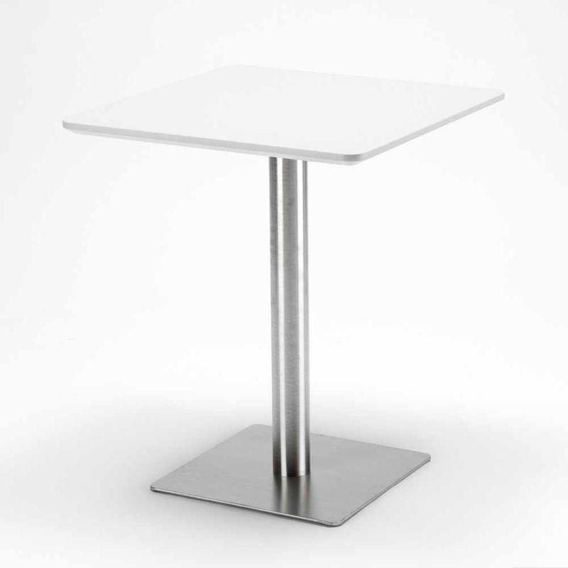Immagini Tavolini Bar.Tavolino 60x60 Quadrato Con Base Centrale Per Bar Bistrot Horeca