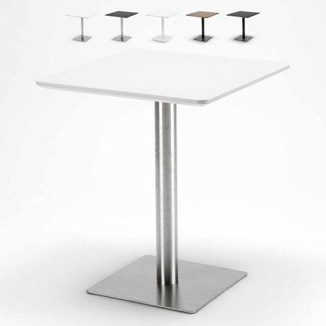 Tavolini Quadrati Bar.Tavolino 60x60 Quadrato Con Base Centrale Per Bar Bistrot
